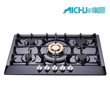 201 Black Stainless Steel 5 Bunner Gas Cooker