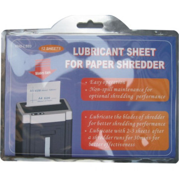 Shredder Lubricant bag