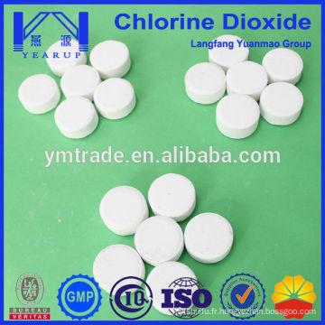 Comprimés de purification d'eau au dioxyde de chlore de haute pureté