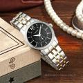 Reloj de señora Modern Waterproof Geneva en acero inoxidable