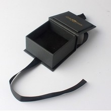 Square black necklace jewelry paper box
