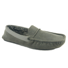 men's comfortable warm moccasin house slippers