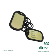 Hot Sell Custom Metal Military Dog Tag with Rubber