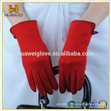 Wholesale Slender Womens Touch Screen Gants en laine rouge