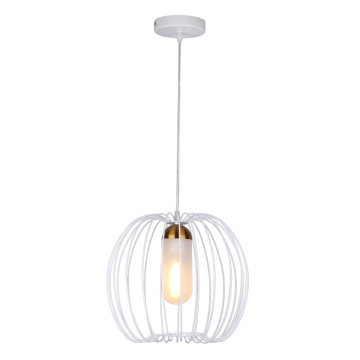 Suspension déco blanche Global Lampbody Wire Cage