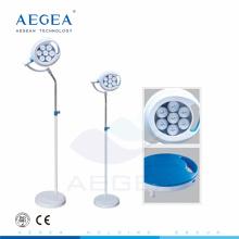 AG-LT016B importados bombillas LED secuencia de diseño alineado soporte quirúrgico luces de teatro médico móviles