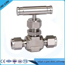 Válvula de agulha de montagem de tubo confiável