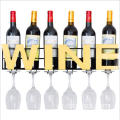 Wine Glasses Holder Storage Wall Mount Metal Wine Rack wall mounted shelf