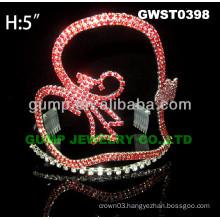 heart rhinestone tiara crown -GWST0398