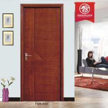 hdf mahogany wood door 6 panel interior doors with frame                                                                         Quality Choice