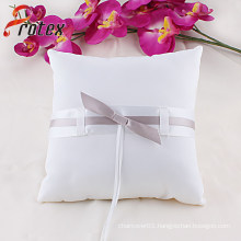 2015 White Wedding Bridal Ring Pillow with Bow Decoration