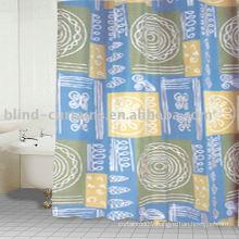 Cloth shower curtain