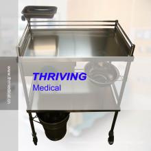 Carretilla del hospital del acero inoxidable de la alta calidad (THR-ST-040)