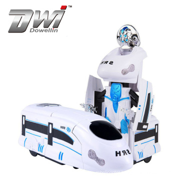 Dowellin 2 In 1 Electric Transformation Train Robot with Music