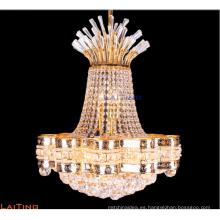 Hotel decorativo pequeño cristal de oro colgante araña iluminación LT-78152
