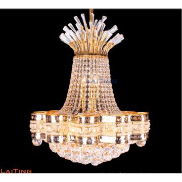 Petit lustre en cristal d'or de lustre décoratif d'hôtel allumant LT-78152