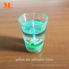 Bougie fraîche et jolie de gel de point de vente à vendre avec le support en verre