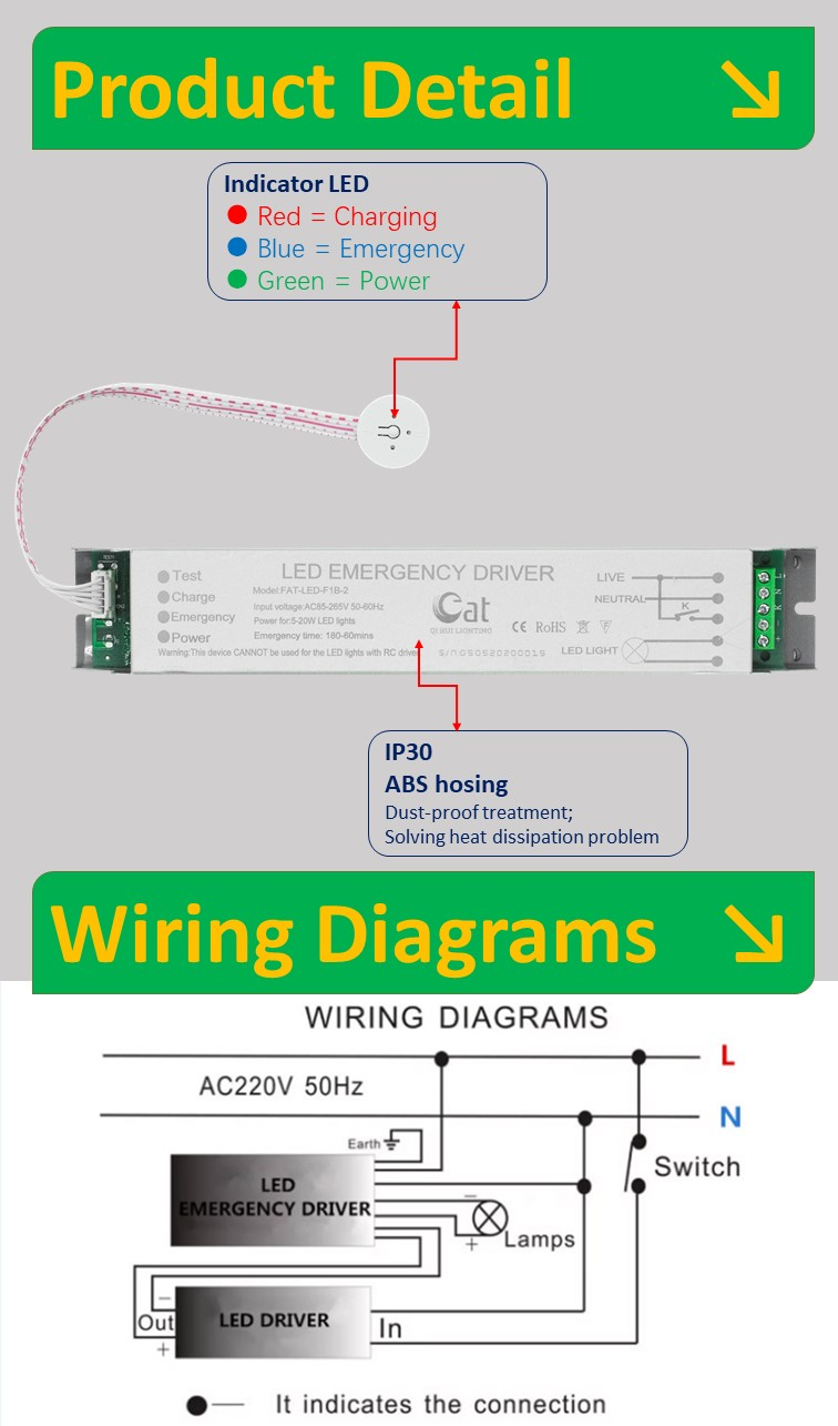 emergency lighting module