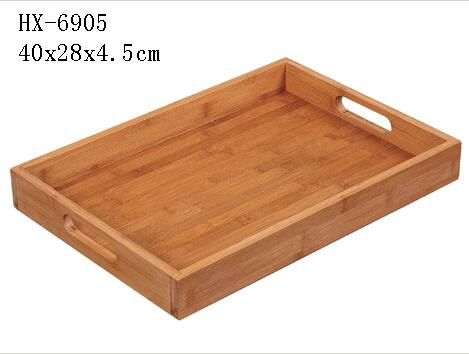 bamboo tray with handle