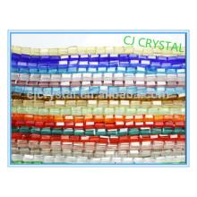 Оптовые стеклянные бусы, дешевые стеклянные бусины, бусины из прямоугольного стекла