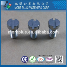 Hecho en Taiwán Sierra de acero inoxidable Slotted Fillister cabeza máquina tornillo