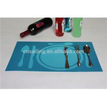 fashionable tableware jacquard PVC placemat