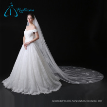 Cathedral Bridal Accessories Lace Appliques Long Wedding Veils