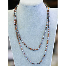 Fashion Natural Gemstone Stone Colors Necklace Jewelry