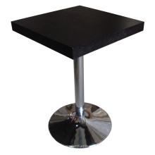 Mesa de comedor negra para cantinas y muebles de hotel