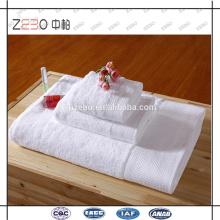 Pure White Custom bordado logotipo toalhas de banho 5 toalha de hotel estrela conjunto