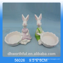 Cutely coelho designe cerâmica candle holder
