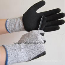 Hppe Gloves Safety Cut Resistant Nitrile Coating Work Glove Factory