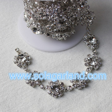 Crystal Sunflower Chain DIY Diamond Chains Cake Decoration
