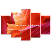 Impresión abstracta de la lona del grupo / arte de la lona del barranco del antílope / 5 arte colgante de la pared del panel