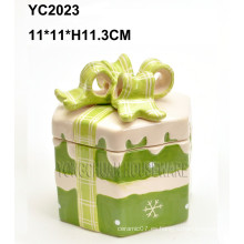 Caja de regalo cuadrada de cerámica a mano