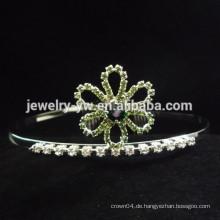 Großhandelshaarzusatzkristallblumenform Stirnband für Mädchen
