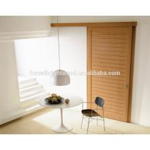 Veneered 1 Panel with Grooves Sliding Closet Doors