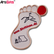 Wholesale Customized Commemorative cheap foot woven embroidery patch