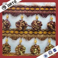 Günstige Plastikperlen Vorhangtroddel Fringe für Sofa, dekorative Trimmen Fransen benutzt für Vorhangzusätze für Hauptdekoration