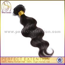 5а дешевые цены 3 пакета Unproessed сильный утка тела волны перуанский девственной человеческих волос