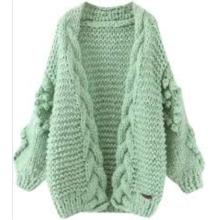 Cardigans longs tricotés en cachemire à la mode