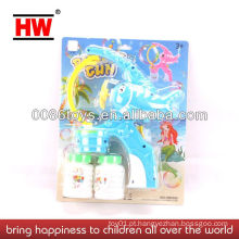 BO Brinquedo engraçado da bolha com a luz e a arma da bolha da música