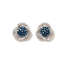 925 silberne farbige und weiße Diamant-Bolzen-Ohrringe, die Ohrringe Wedding sind