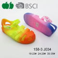 New Style Summer Durable Colorful Fancy Girl Pvc Sandals