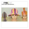 Chapéu de festa de chapéu de papel dobrável de verão para festa