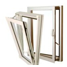 Fenêtre accrochante accrochante de prix de fenêtre de battement vers l'intérieur / fenêtre accrochante en aluminium