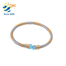 Simple Design With Plated Gold Metal Jewelry Bangle Custom Made