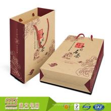 Preço de atacado Reutilizável Próprio Logotipo Personalizado Corda De Nylon Lidar Com Saco De Papel Kraft Marrom Para O Empacotamento Do Presente Do Chá