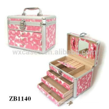 New arrival strong aluminum jewelry box with 3 drawers