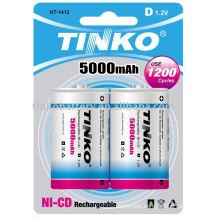 Rechargeable Battery ni-cd size D 5000mah 2pcs/blister